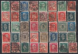 DR Lot 40 Marken 1924-1932 Gestempelt Perfins Firmenlochungen - Briefmarken