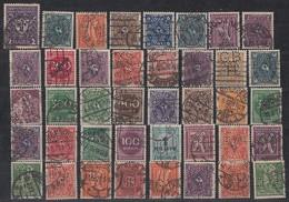 DR Lot 40 Marken Inflation Gestempelt Perfins Firmenlochungen - Briefmarken