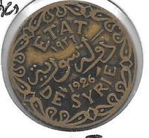 *syria 5 Piastres 1926  Km 70  Vf - Syria