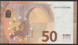 """50 EURO ITALIA  SA  S017  Ch. """"34""""  - DRAGHI   UNC - 50 Euro"""