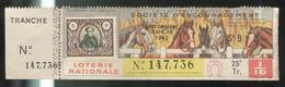 Billet De Loterie 1/10 ème Société D'Encouragement 25ème Tranche 1943 - Billets De Loterie
