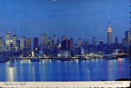 Skyline At Night - Formato Grande Viaggiata Mancante Di Affrancatura – E 9 - Cartoline