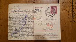 CARTE  LETTRE TIMBRE HITLER DEUTSCHES REICH 1944 OBERHAUSEN - Allemagne
