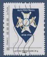= AJA Football Auxerre Timbre TVP LP Oblitéré Cadre Philaposte - Frankreich