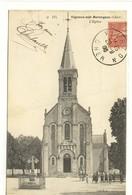 Carte Postale Ancienne Vignoux Sur Barangeon - L'Eglise - France