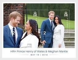 GUERNSEY  2018  HUWELIJK PRINS HARRY  MEGAN MARKLE  BLOK -M/S      Postfris/mnh/neuf - 1952-.... (Elizabeth II)