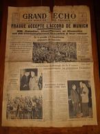 Journal GRAND ECHO Du Nord De La France N° 274 -  Samedi 1er Octobre  1938 - Newspapers