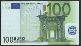 S  ITALIA 100 EURO J022 G1 - TRICHET   UNC - 100 Euro