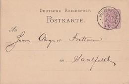 DR Ganzsache K1 Hüttensteinach 29.3.82 - Deutschland