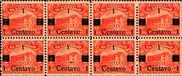 74779) 1919 - EL SALVADOR - SURCHARGED IN BLACK - SCOTT 457 A83 1C ON 17C LOTTO DI 28 V.-SG - El Salvador