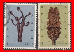 GRECIA GREECE  2 SELLOS AÑO 1964 - Grecia