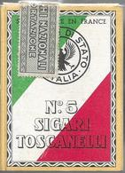 Ancien Paquet Vide N°5 Sigari Toscanelli - Empty Cigarettes Boxes