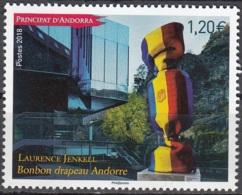 Andorre Français 2018 Laurence Jenkell Bonbon Drapeau Neuf ** - Andorre Français