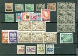 Malaya LOT Of 30 Incl. 2 SETS Oldies Anti Malaria Animals More MNH MH..cat $65 WYSIWYG A04s - Malaysia (1964-...)