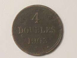 1903 Guernsey 4 Doubles Coin, Fine - Guernsey