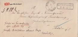 Preussen Paketbegleitbrief R2 Greifenhagen 3.6. Nach Stettin K2 Stettin 4.6. Packk. - Preussen