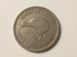 1949 New Zealand Florin Coin, Fine - Guernsey