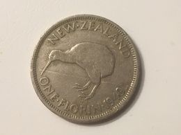 1949 New Zealand Florin Coin, Very Fine - Nouvelle-Zélande