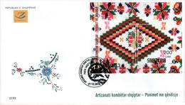 Albania Stamps 2018. Albanian National Craft: Embroidery Works. FDC Block MNH - Albania