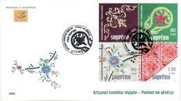 Albania Stamps 2018. Albanian National Craft: Embroidery Works. FDC Set MNH - Albania