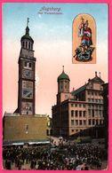 Augsburg - Das Turamichele - Tramway - Fontaine - Animée - Verlag Von THEO JUNGE - 1929 - Colorisée - Augsburg