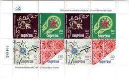 Albania Stamps 2018. Albanian National Craft: Embroidery Works. Sheet MNH - Albania