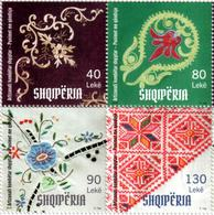 Albania Stamps 2018. Albanian National Craft: Embroidery Works. Set MNH - Albania