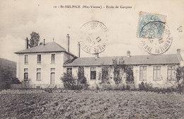 ST SULPICE (Hte-Vienne) Ecole De Garçons Circulée  Timbrée 1905 - Saint Sulpice Les Feuilles