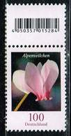 Bund 2018, Michel# 3365 R ** Blumen: Alpenveilchen  Mit EAN Ohne Nummer - Roulettes