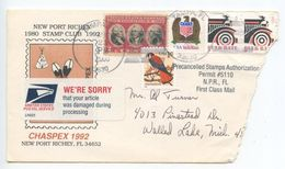 United States 2000 Cover Tampa FL To Walled Lake MI, Damaged By USPS - United States