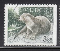 Sweden 1996 Used Sc #1925 3.85k Lutra Lutra Otter - Suède