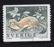 Sweden 1996 Used Sc #1931 3.85k Mustela Erminea Stoat - Suède