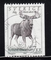 Sweden 1992 Used Sc #1934 7k Alces Alces Moose - Suède
