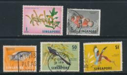 SINGAPORE, 1966 1c, 5c, 25c, 50c, $1 All Wmk Sideways Fine Used, Cat £14 - Singapore (1959-...)