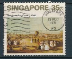 SINGAPORE, 1971 Painting 35c Fine Used, Cat £9 - Singapore (1959-...)