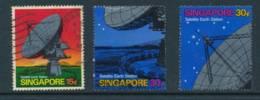 SINGAPORE, 1971 Satellite-earth Station 15c, 30c, 30c, Fine Used, Cat £24 - Singapore (1959-...)