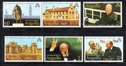 W1670 - ANGUILLA 1970 , Serie Yvert N. 161/166   ***   MNH  Churchill - Anguilla (1968-...)