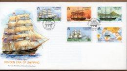 1988 Guernsey Shipping Set FDC - Guernsey