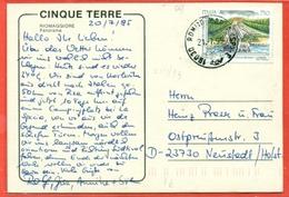 STORIA POSTALE PER L'ESTERO- LIRE 750 GIARDINI CASERTA- 1995 -  PER LA GERMANIA - RIOMAGGIORE - 6. 1946-.. Repubblica