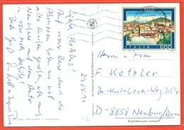 STORIA POSTALE PER L'ESTERO- LIRE 600 TURISTICA CAGLI -1991 - DA GIULIANOVA PER LA GERMANIA - 6. 1946-.. Repubblica