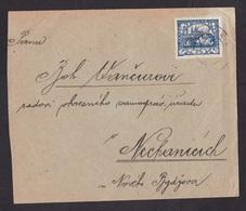 Czechoslovakia: Cover, 1920s?, 1 Stamp (minor Damage, See Scan) - Tsjechoslowakije