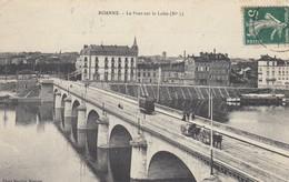 42 - Loire - Roanne - Le Pont Sur La Loire Animé - ( Attelage ) - Roanne