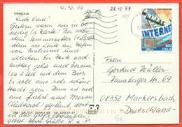 STORIA POSTALE PER L'ESTERO- LIRE 800 INTERNET - 1998 - DA VENEZIA PER LA GERMANIA - 6. 1946-.. Repubblica
