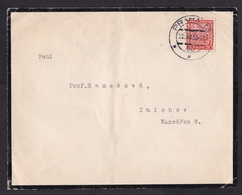 Czechoslovakia: Mourning Cover, 1930, 1 Stamp (creases) - Tsjechoslowakije