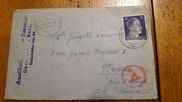 ENVELOPPE TIMBREE HITLER DEUTSCHES REICH 1943 OBERHAUSEN - Allemagne