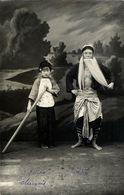 China, Native Chinese Theatre Actor Girl (1930s) RPPC Photo Postcard - China