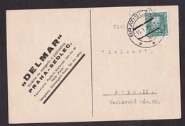 Czechoslovakia: Postcard, 1935, 1 Stamp (traces Of Use) - Tsjechoslowakije