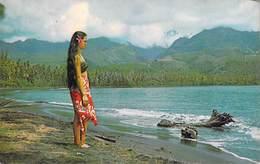 Polynésie Française LA BAIE DE MATAVAI Bay  (vahiné) (B) ( Photo Sounam Papeete Tahiti  C 19682 ) BV *PRIX FIXE - Polynésie Française