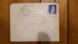 ENVELOPPE AVEC LETTRE TIMBRE  HITLER DEUTSCHES REICH 1943 OBERHAUSEN - Lettres & Documents