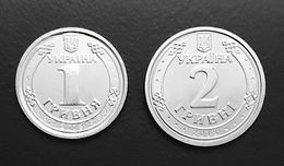 UKRAINE - 2 Coins 1 HRYVNIA & 2 HRYVEN 2018 - KM # New - UNC New! - Ukraine